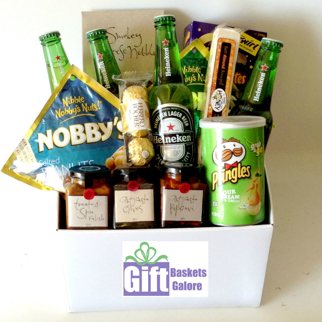 Gourmet Packed Snacks Beer Basket