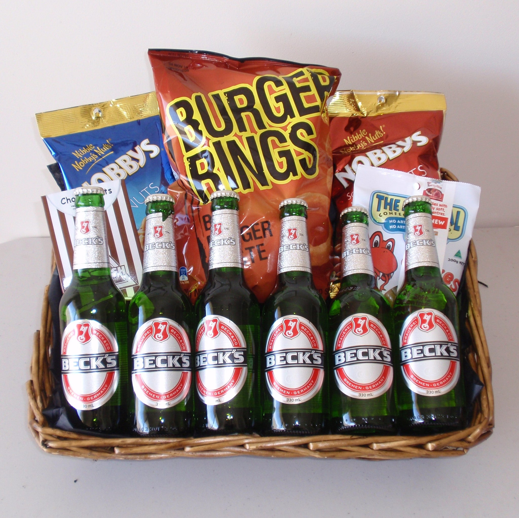 Beer Snax Basket