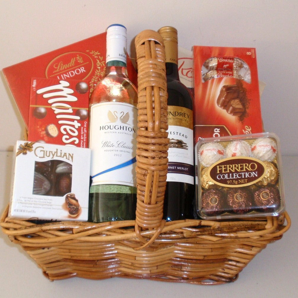 Chocolate Wine Treat Basket