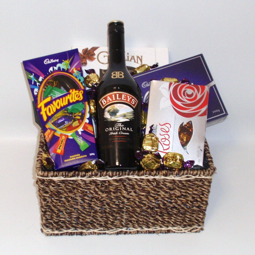 Chocolate Favourites & Baileys Basket