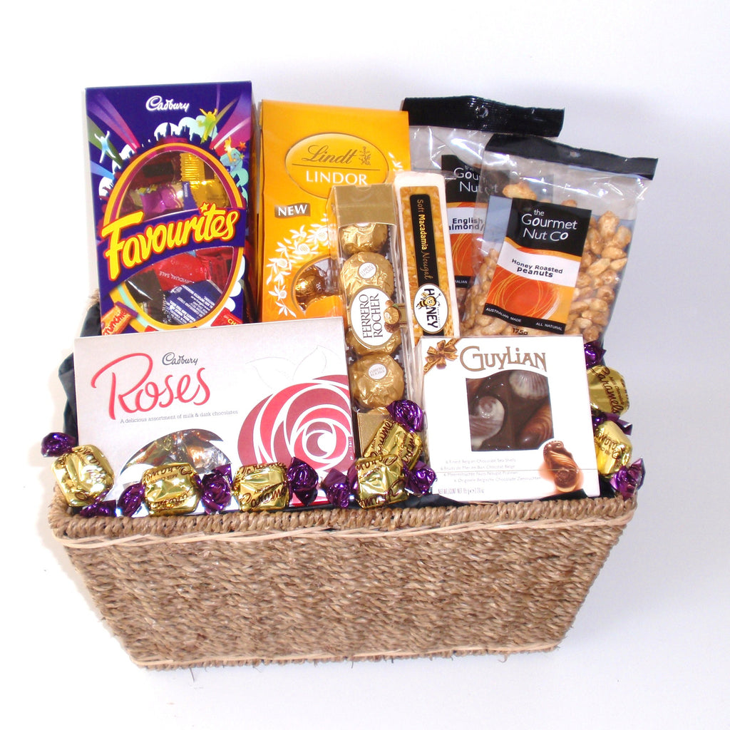 Chocolate & Lolly Hampers - No Alcohol | Gift Baskets Galore Perth ...
