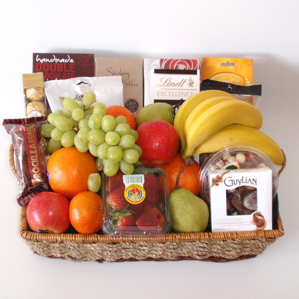 All products fruit gift basket perth gift baskets galore perth fruit and wine picnic basket 14900 fruit nibbles deluxe hamper negle Images