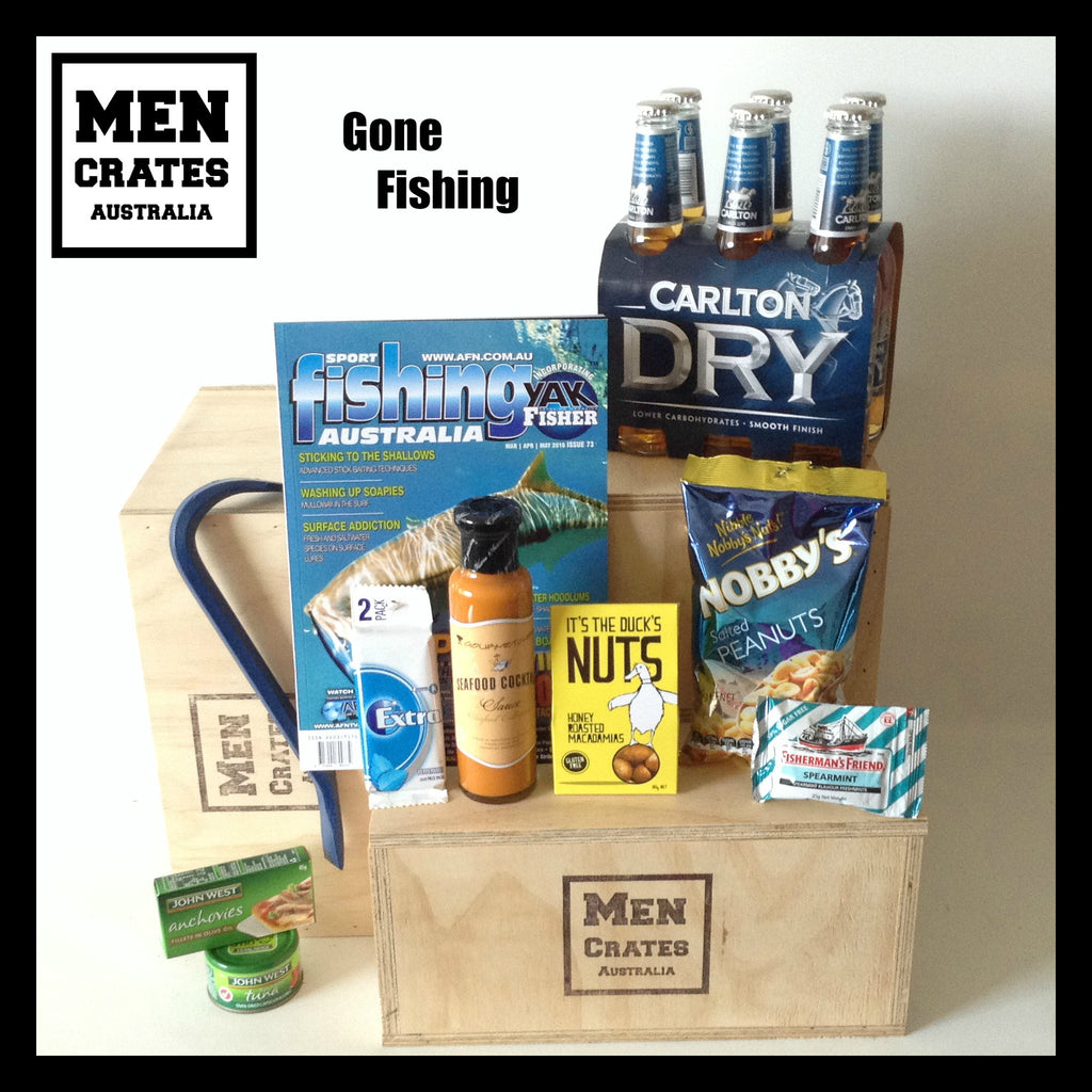 Gone Fishing Crate