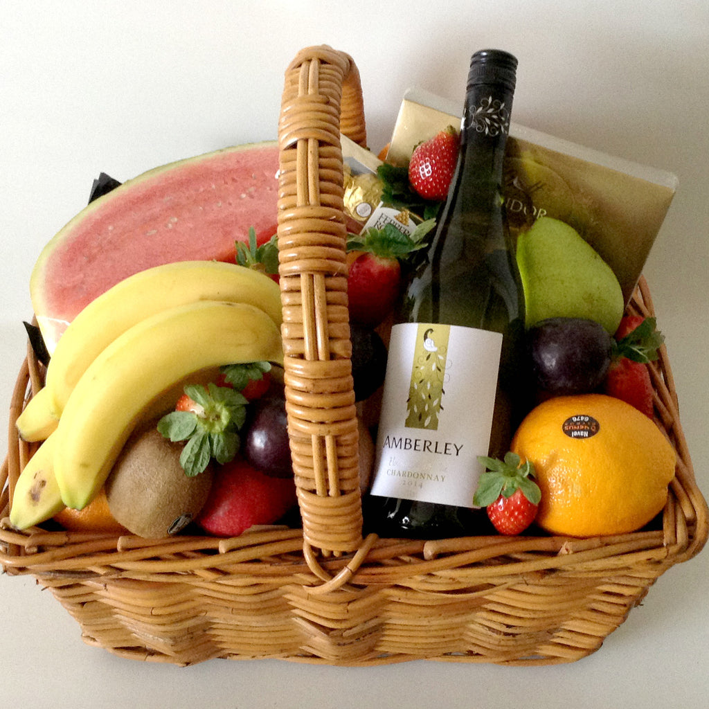 Fruit and Wine Picnic Basket