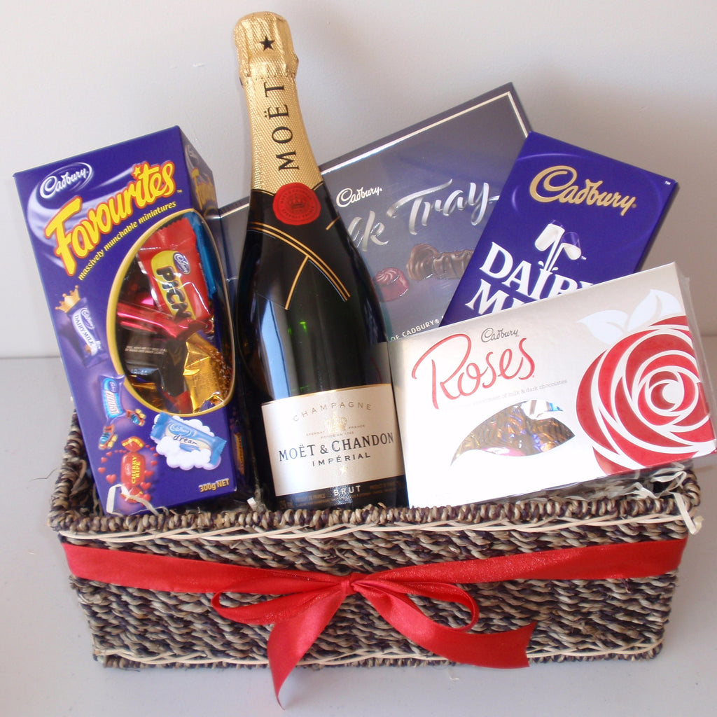 Moet & Cadbury Chocolate Basket