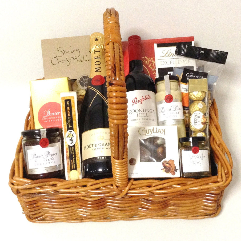 Champagne & Red Wine Deluxe Basket
