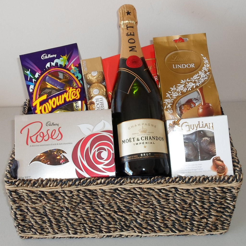 Champagne Chocolate Basket
