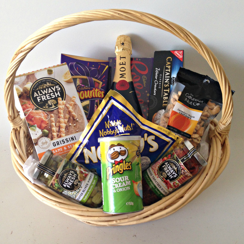 Moet Treats Gift Basket