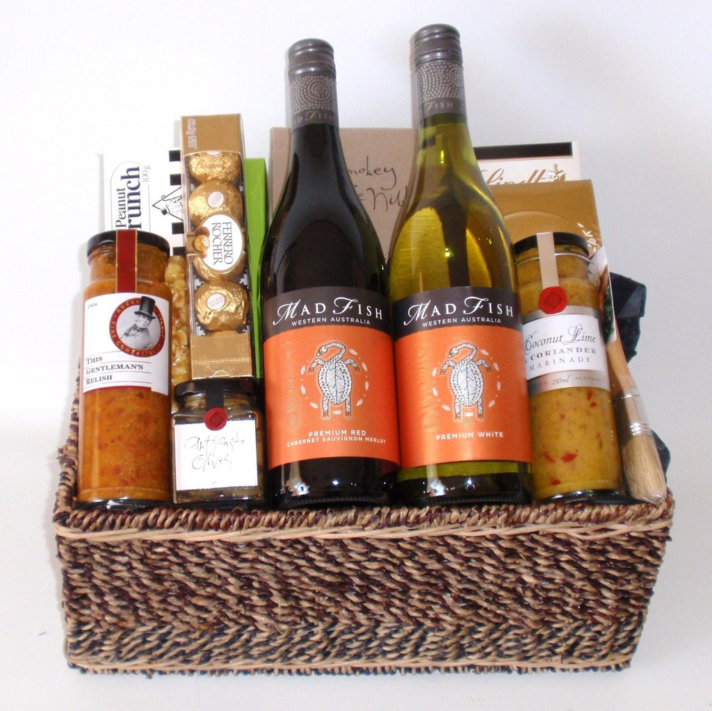 Red & White Madfish Wine Basket