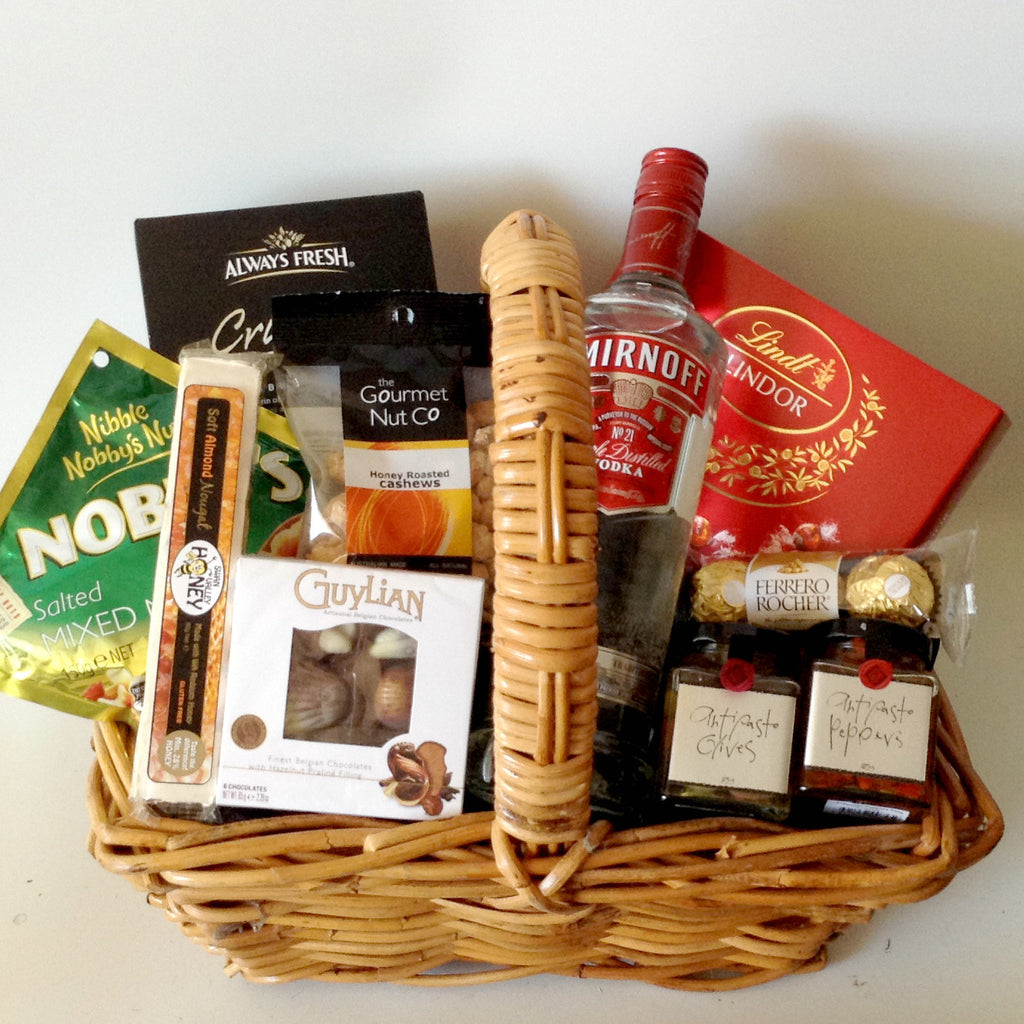 Vodka Antipasto Gift Basket