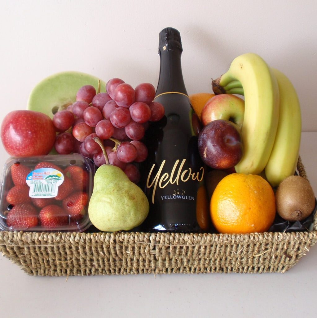 Sparkling Yellow Fruit Basket