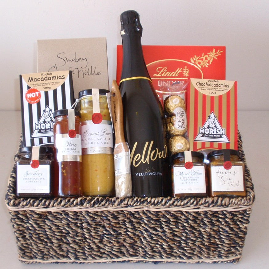 Yellow Gourmet Gift Basket