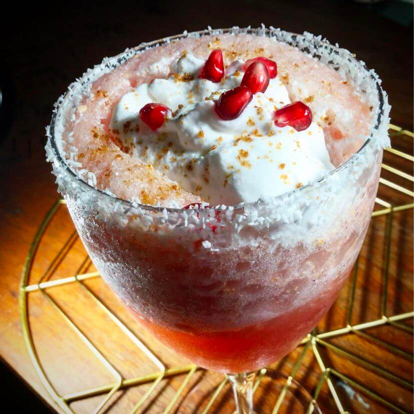 Pomegranate-Coconut Virgin Daiquiri - (Tropical Getaway)