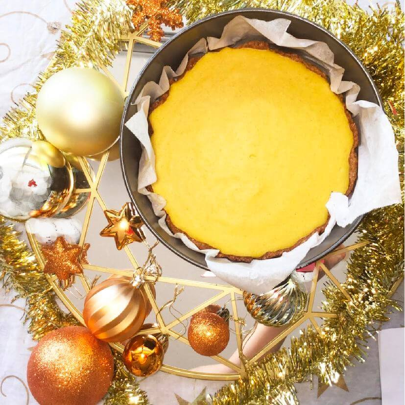 Golden Turmeric Lemon Tart - (Recipe)