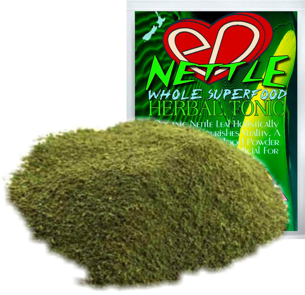 Organic Nettle Leaf Holistically Cleanses & Nourishes Vitality. A Beautifying Superfood Powder that is Especially Beneficial For Womens Whole Wellbeing.