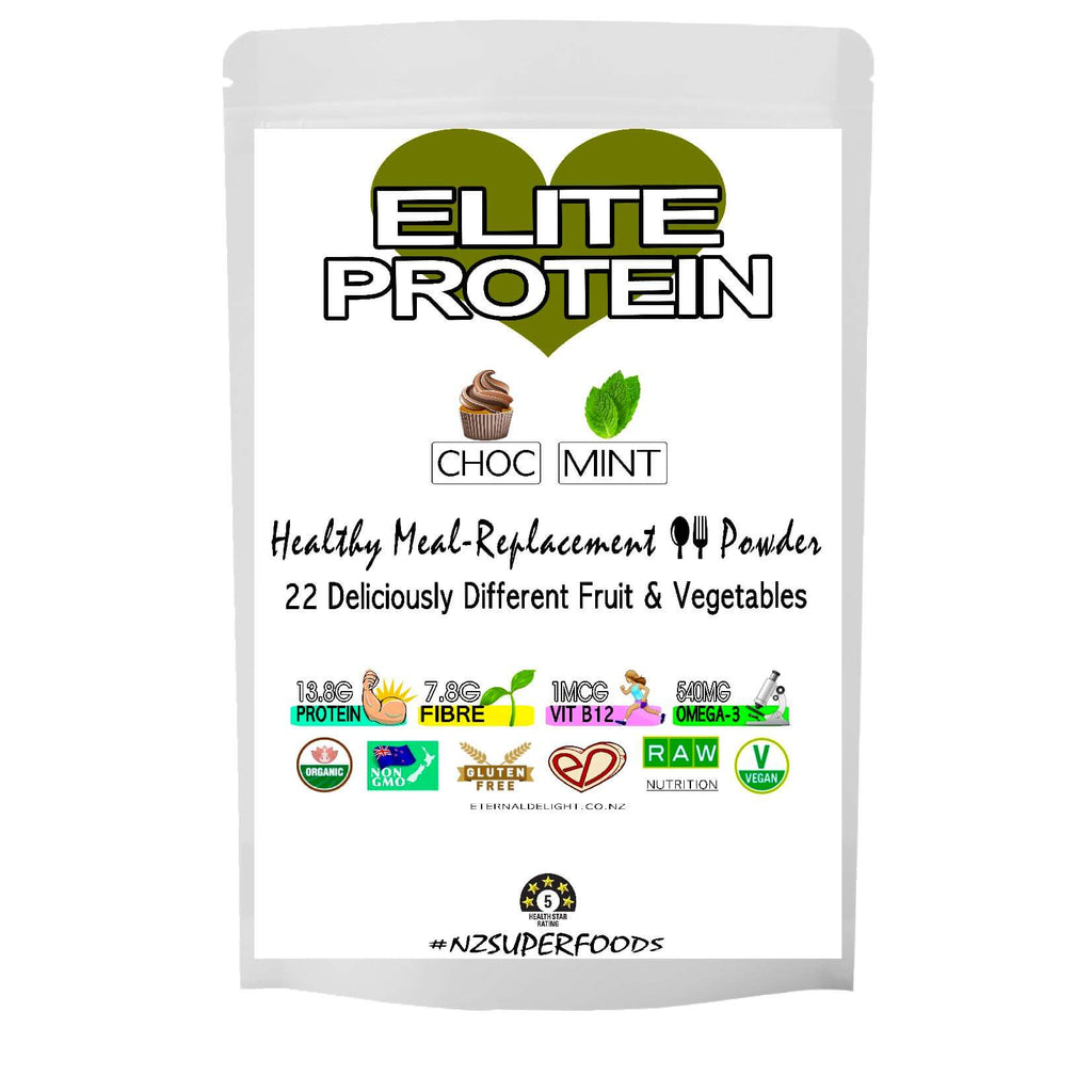 Organic Health Shop. Plant-Based Protein Powder. An Elite Meal-Replacement. Deliciously Rich in Cacao with a Cool-Mint Flavour. Nourish Weight Goals.