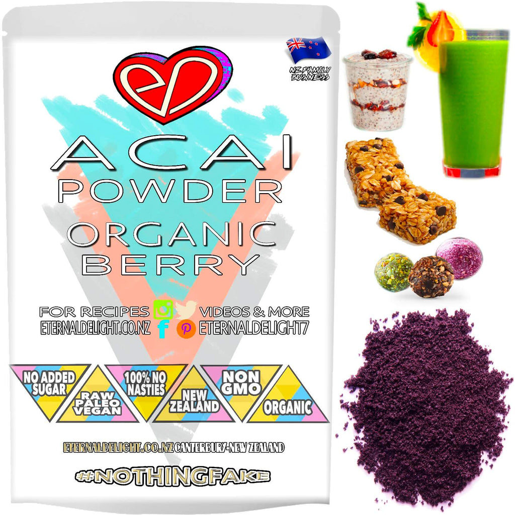 Raw Organic Acai Berry Powder is a Super Delicious Whole-Food Powerhouse to Nourish an Active and Vibrant Lifestyle, Vitality and Your Best Wellbeing.