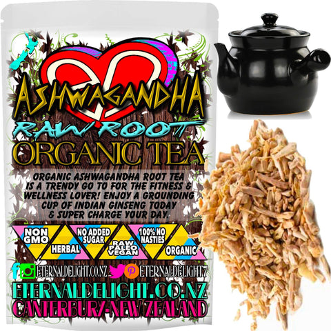 Organic Ashwagandha Root Tea is a Trendy Go To for the Fitness and Wellness Lover! Enjoy a Grounding Cup of Indian Ginseng Today and Super Charge Your Day.