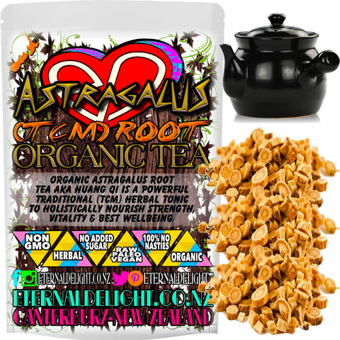 Organic Astragalus Root Tea aka Huang Qi is a Powerful Traditional (TCM) Herbal Tonic to Holistically Nourish Strength, Vitality and Best Wellbeing.