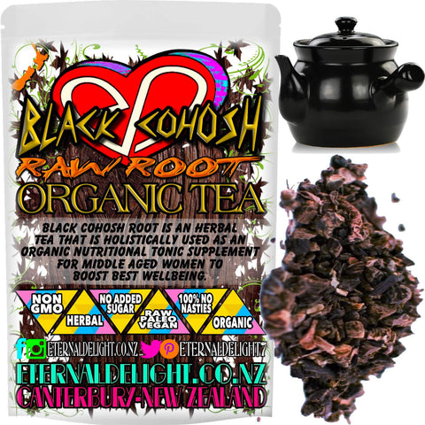 Black Cohosh Root is an Herbal Tea that is Holistically Used as an Organic Nutritional Tonic Supplement for Middle Aged Women to Boost Best Wellbeing.