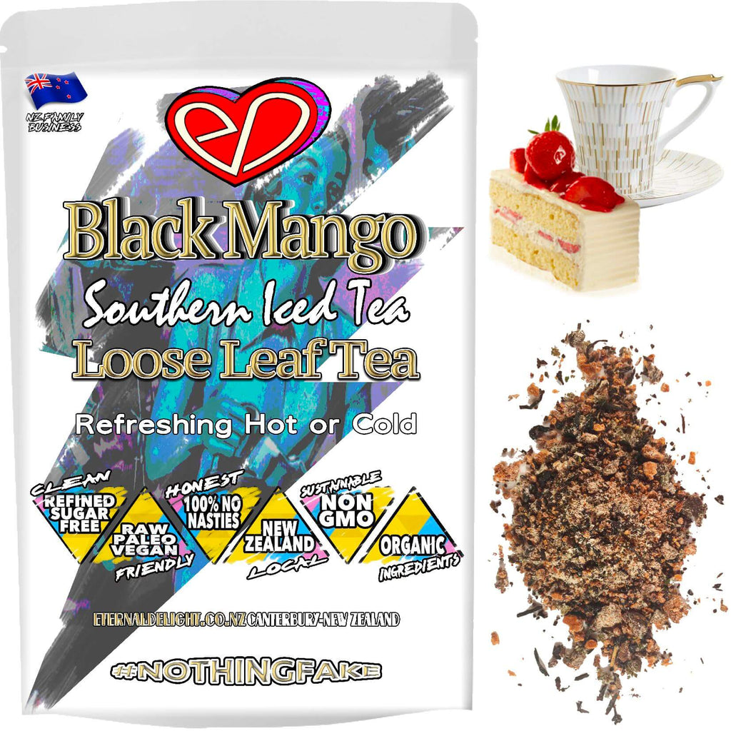 Our Organic Black Mango is Perfect for the Summer as a Refreshing Iced Tea or During the Winter Blues Season as an Uplifting and Tropical Wellness Kick.