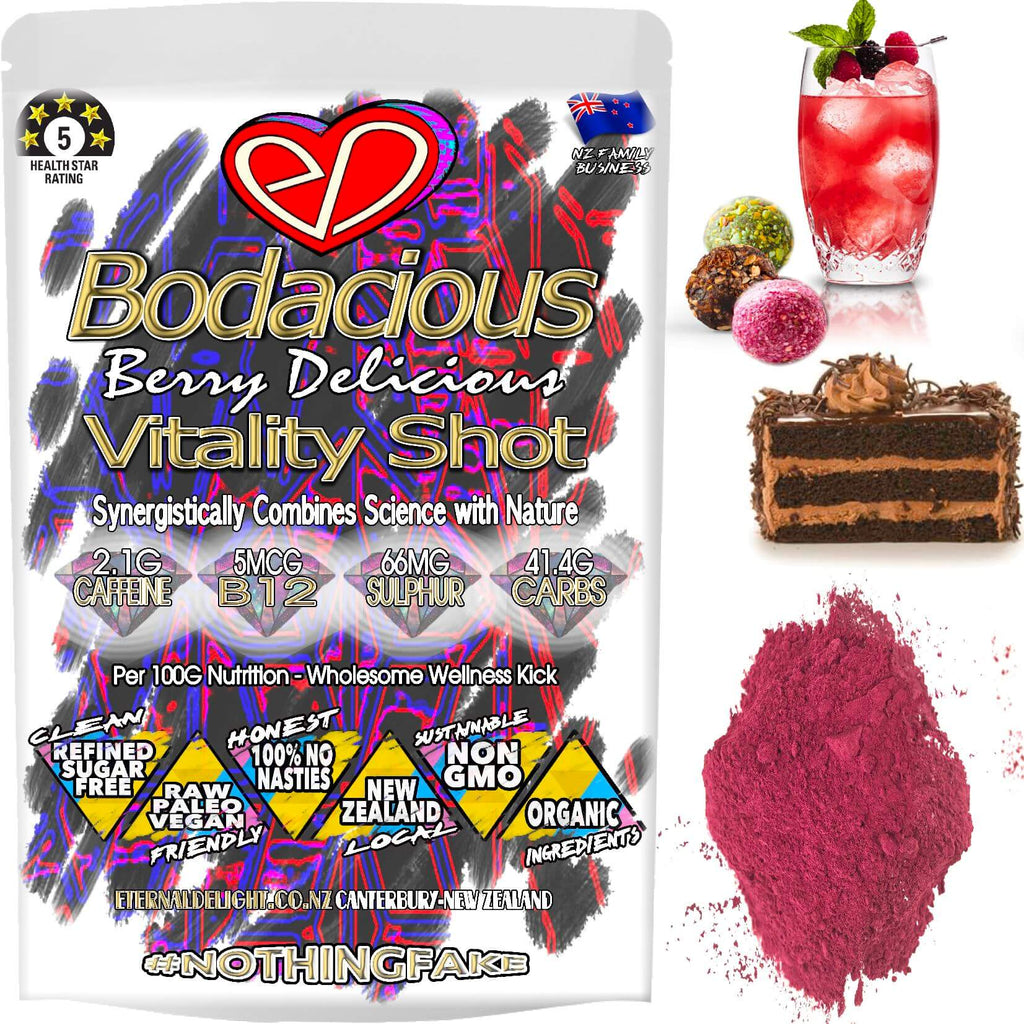 Bodacious Berry is an Organic Pre-Workout Botanical Blend and Exotic Superfood Powder to Holistically Nourish Your Best Athletic Performance Every Time.
