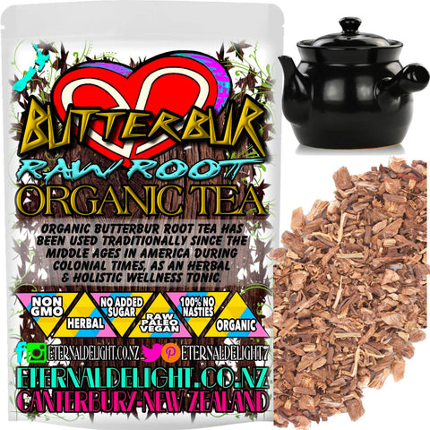 Organic Butterbur Root Tea has Been Used Traditionally Since the Middle Ages in America During Colonial Times, As An Herbal and Holistic Wellness Tonic.