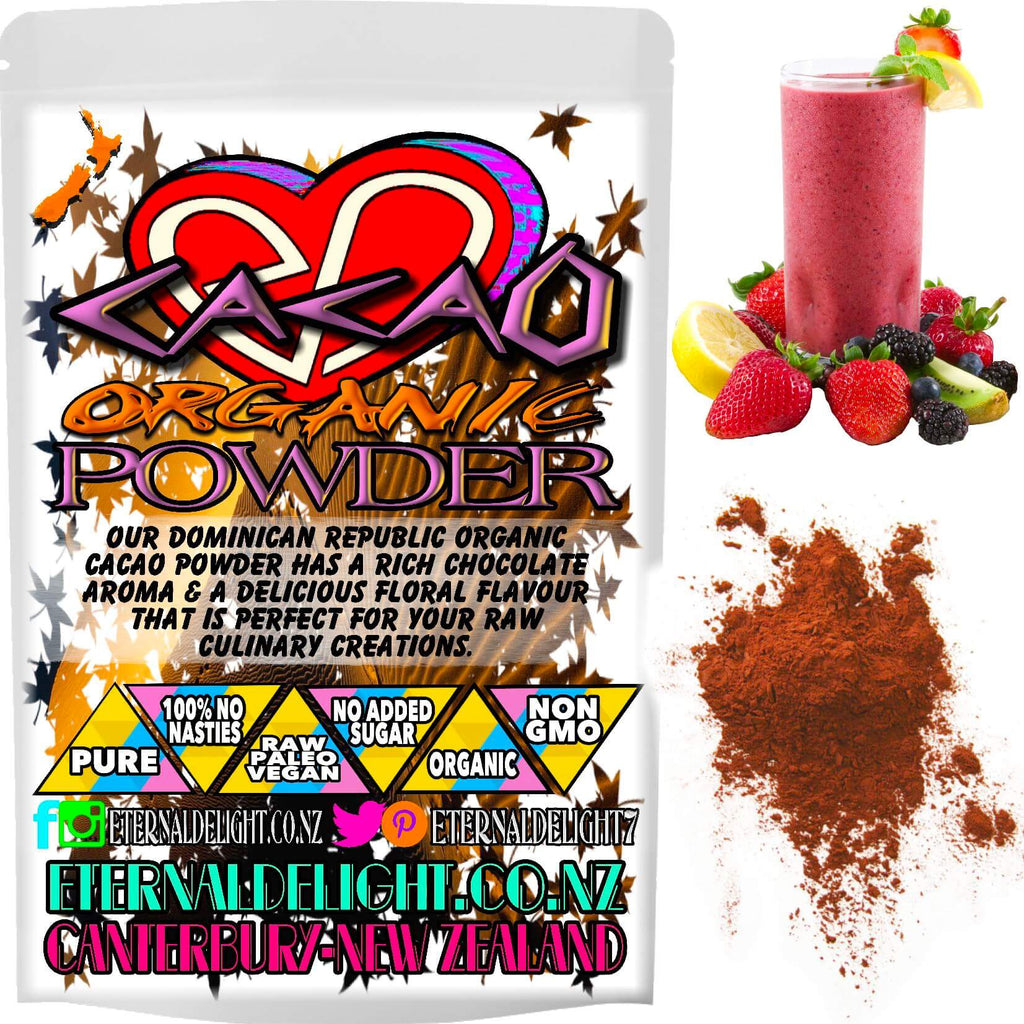 Our Dominican Republic Organic Cacao Powder Has a Rich Chocolate Aroma with a Delicious Floral Flavour and is Perfect for Your Raw Culinary Creations.