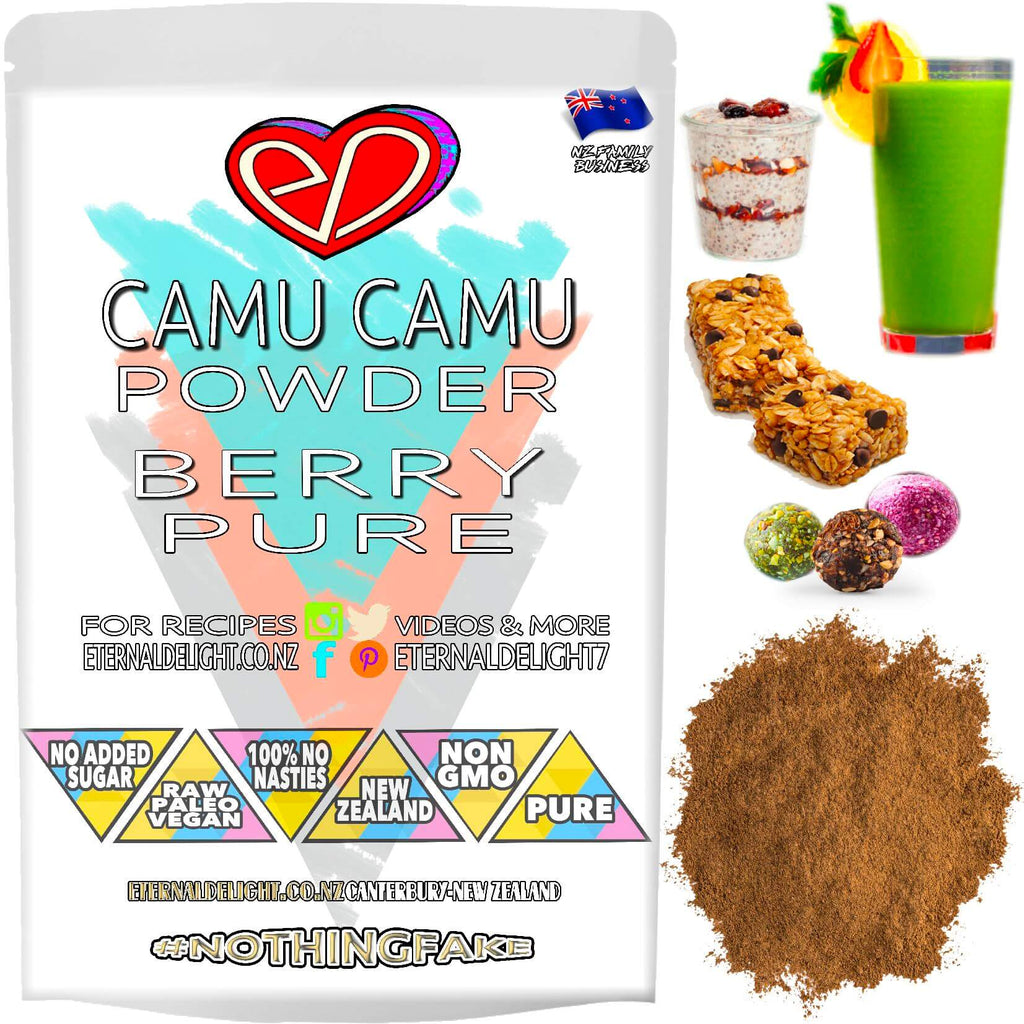 Shop Raw Camu Camu Powder🧘🏼‍♂️Rich in Vitamin C⭐️Protects from Free Radical Damage. Better Energy🚴🏽‍♂️Skin Health. Wildcrafted Berry🇳🇿Buy NZ $3.99.