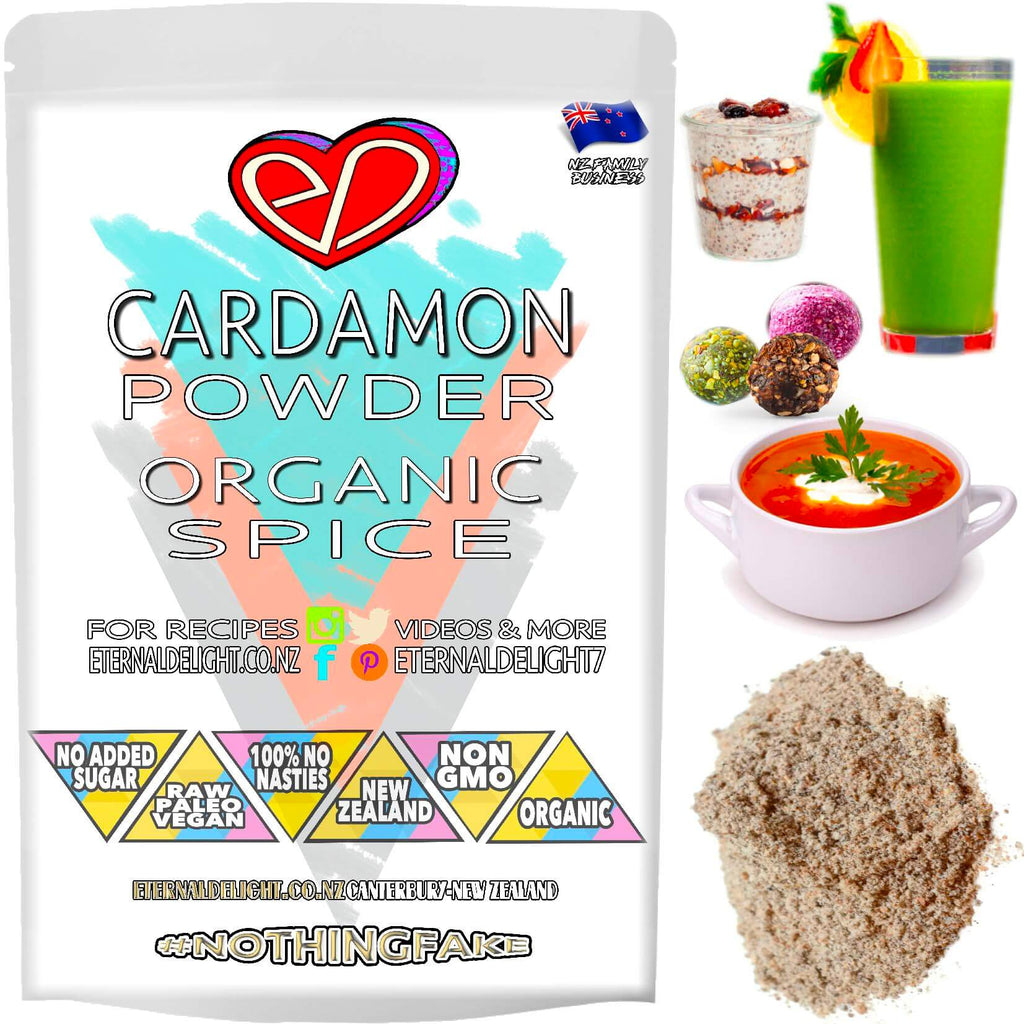 Shop Premium Organic Cardamon Powder. Boasting an Exotic Aroma and Warm Spicy-Sweet, Lemon-Like Flavour. Fast Shipping. Raw Wellness Pantry. Buy NZ $3.99.