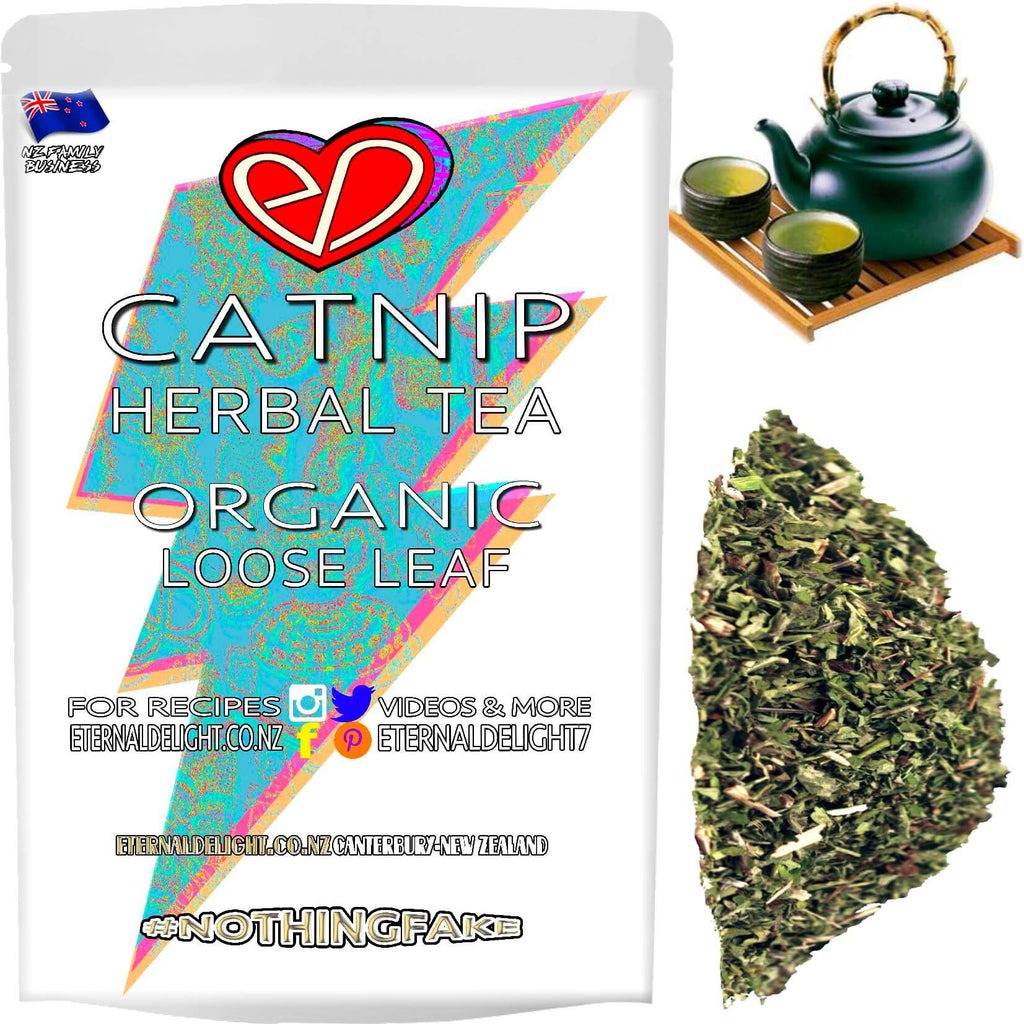 Shop Organic Catnip, Loose Leaf Wellness Tea. A Powerful Herbal Cleanser that Has an Holistic Effect on Cats, Known as Feline Euphoria. Buy $3.99.