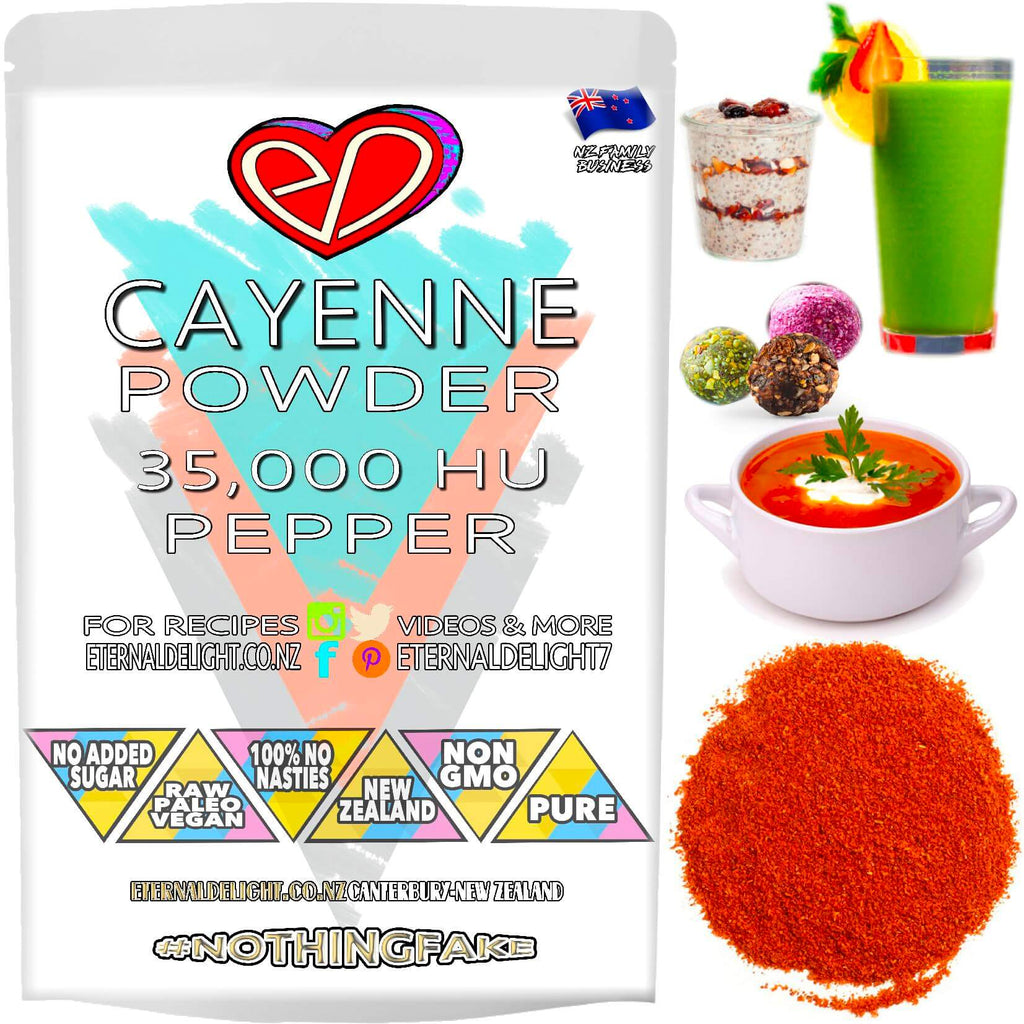 Cayenne Pepper - (Premium 35,000 HU Powder)