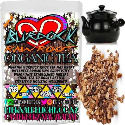 Organic Burdock Root Tea has Great Wellness Promoting Properties. Enjoy This Established Herbal (TCM) Tea to Boost Better Vitality and Holistic Wellbeing.