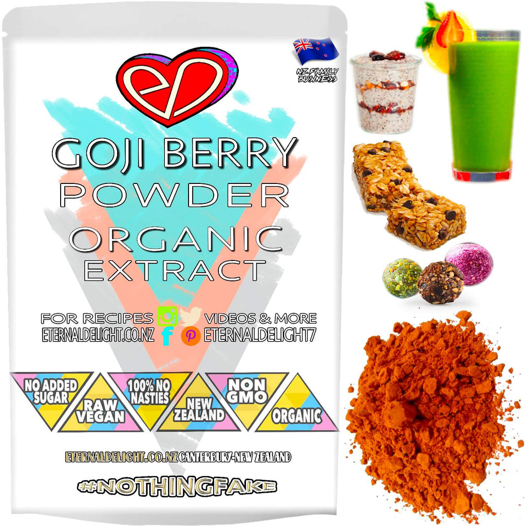 Shop Organic Goji Berry Extract Powder. An Amazing Superfood that Goes Great in Fruit Smoothies and Optimises Vitality. Fast New Zealand Shipping. Buy $3.99.