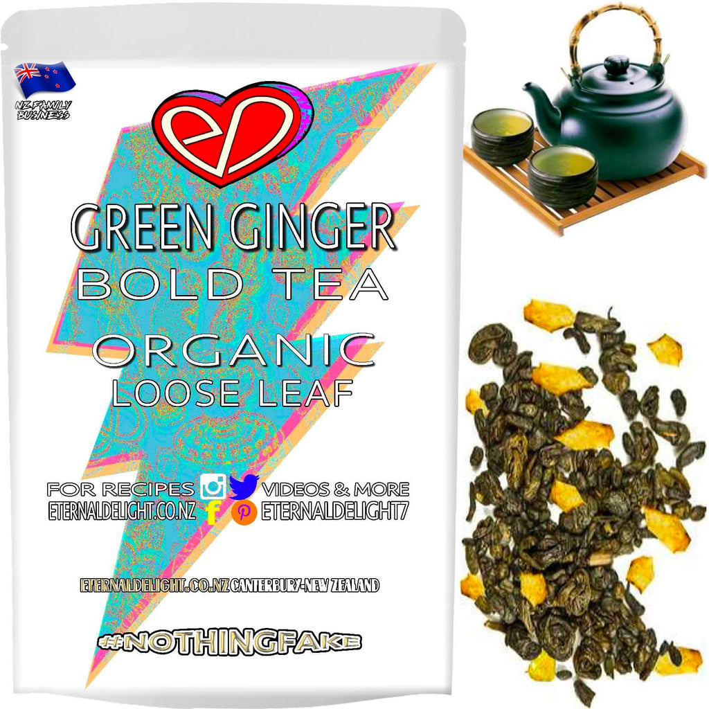 Organic Green Ginger Tea has a Delightfully Delicious Zing. Are You Shopping for a Afternoon Pick Me Up or Warming Wellness Brew? A Fantastic Buy $3.99.