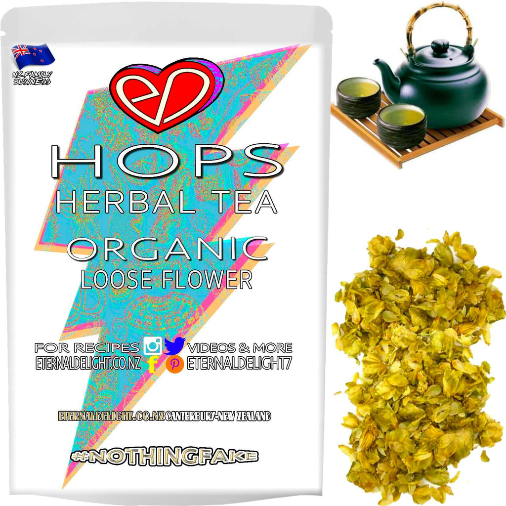 New Zealand Hops are Naturally Soothing Flowers that Organically Calm and Relax Your Whole Wellbeing, and Make for a Unique Herbal Tea or Holistic Tonic.