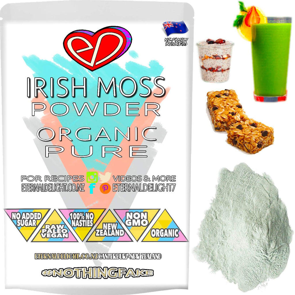 Organic Irish Moss Powder is a Versatile Culinary Ingredient to Thicken Your No Bake Creations. Try as a Raw Beauty Face Mask to Nourish Skin Wellness.