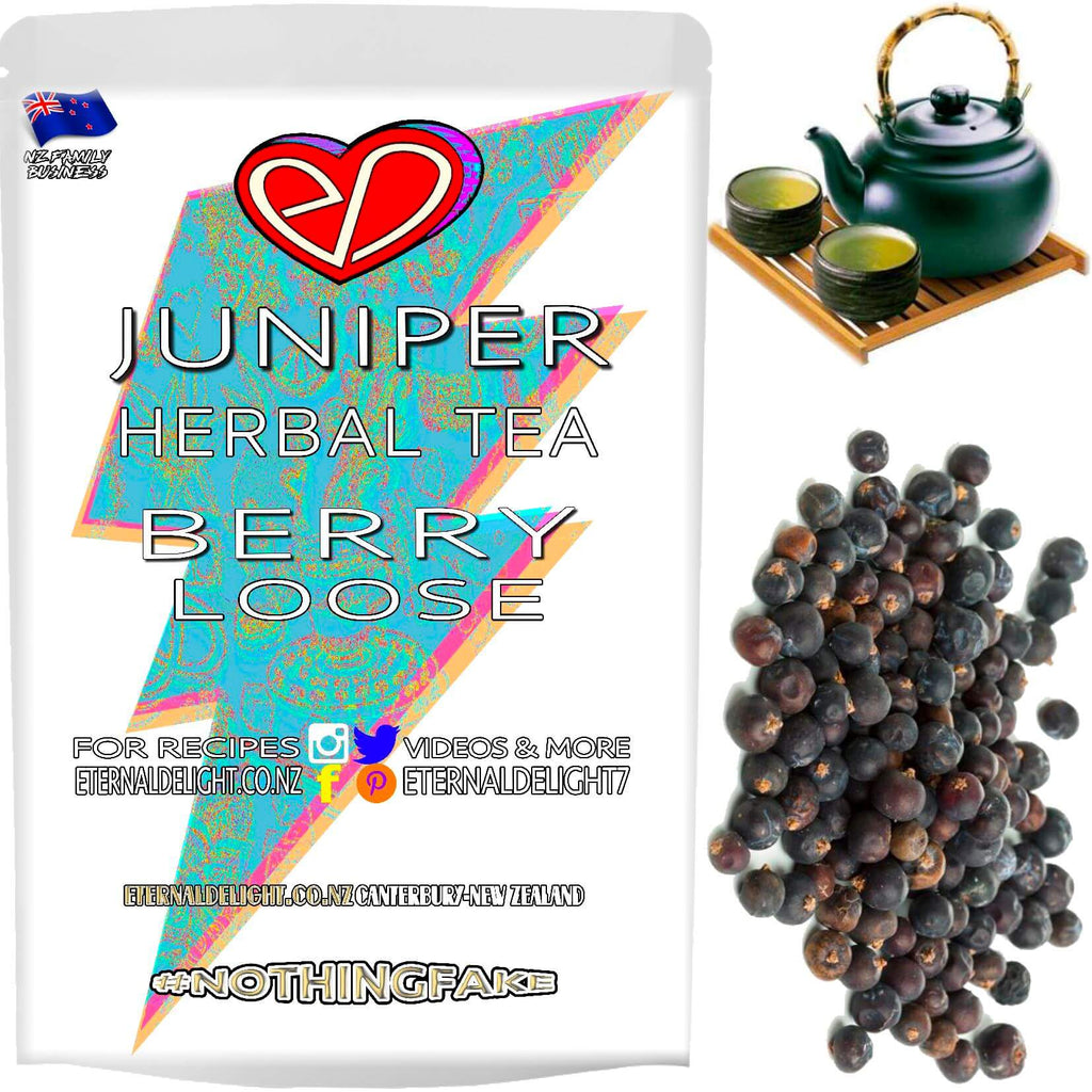 Wildcrafted Juniper Berry Tea is Valued for its Cleansing, Wholesome and Nourishing Flavour. Holistically Goes Great with Heavy Winter Meals and Iced Tea.