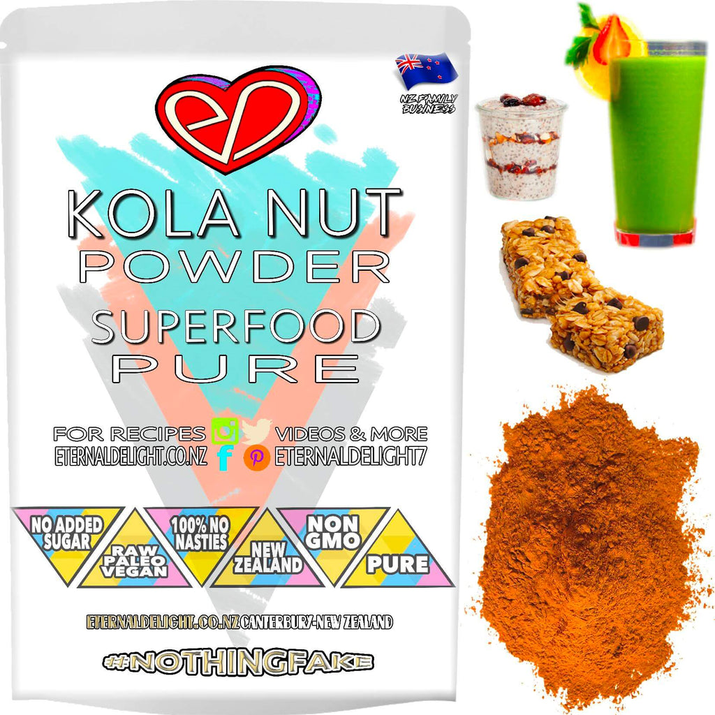 Wildcrafted Kola Nut is an Uniquely Rich Superfood Powder that Holistically Nourishes Your Enjoyment During Time Spent at Work, Gym, Dance Club and Sex.