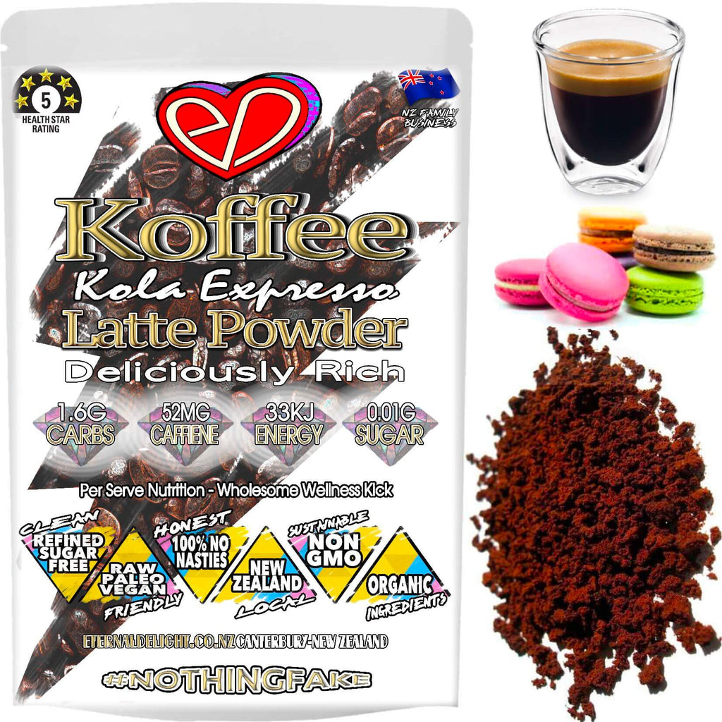 Our Kola Koffee Expresso Has an Earthy Aroma and a Strong Flavour. A Raw Alternative Coffee Powder Rich in Natural Ingredients to Nourish Best Wellbeing.