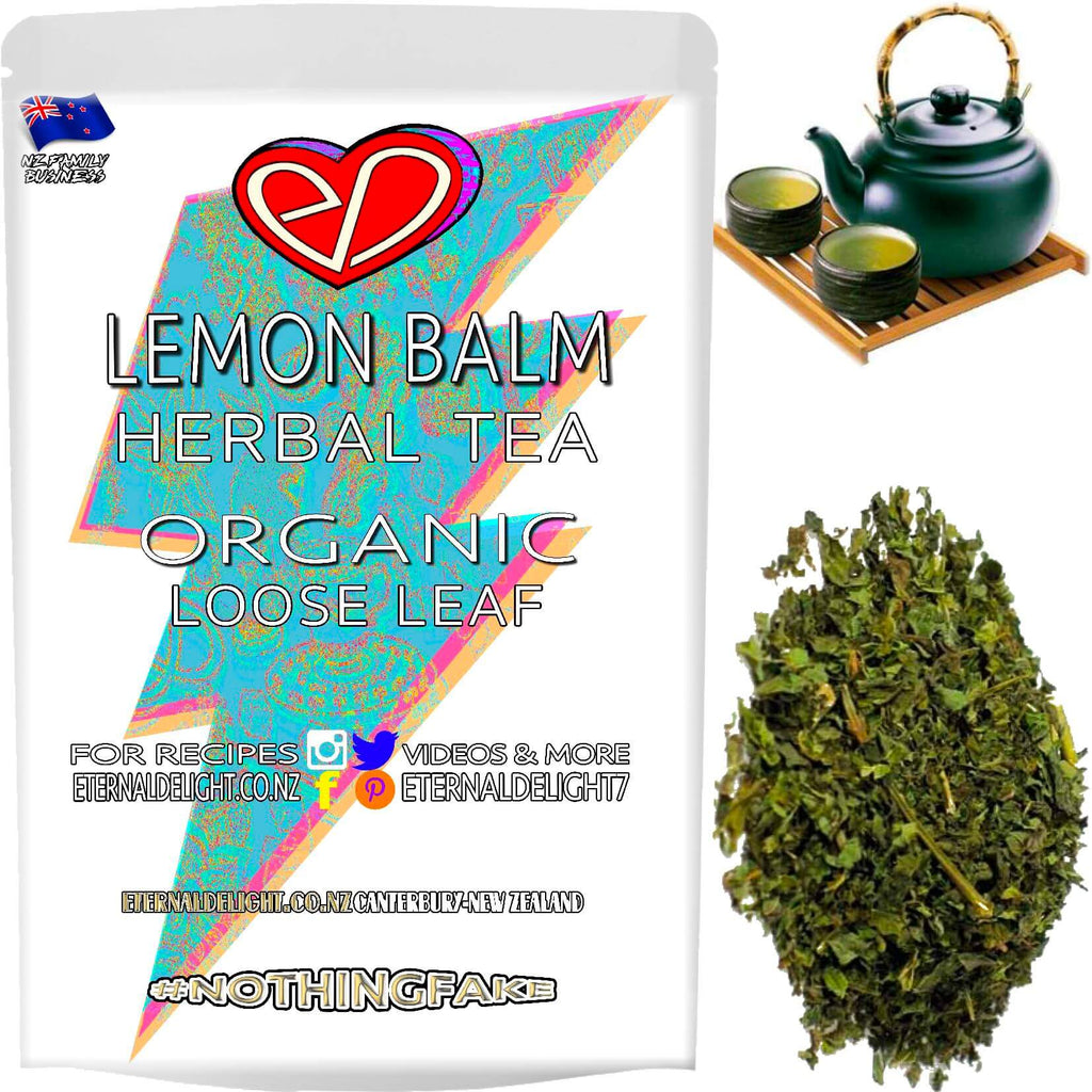Organic Lemon Balm is a Soothing Herbal Loose Leaf Tea that Naturally Nourishes Balance, Vital Wellbeing and Blends Nicely with Holistic Aromatherapy Oils.