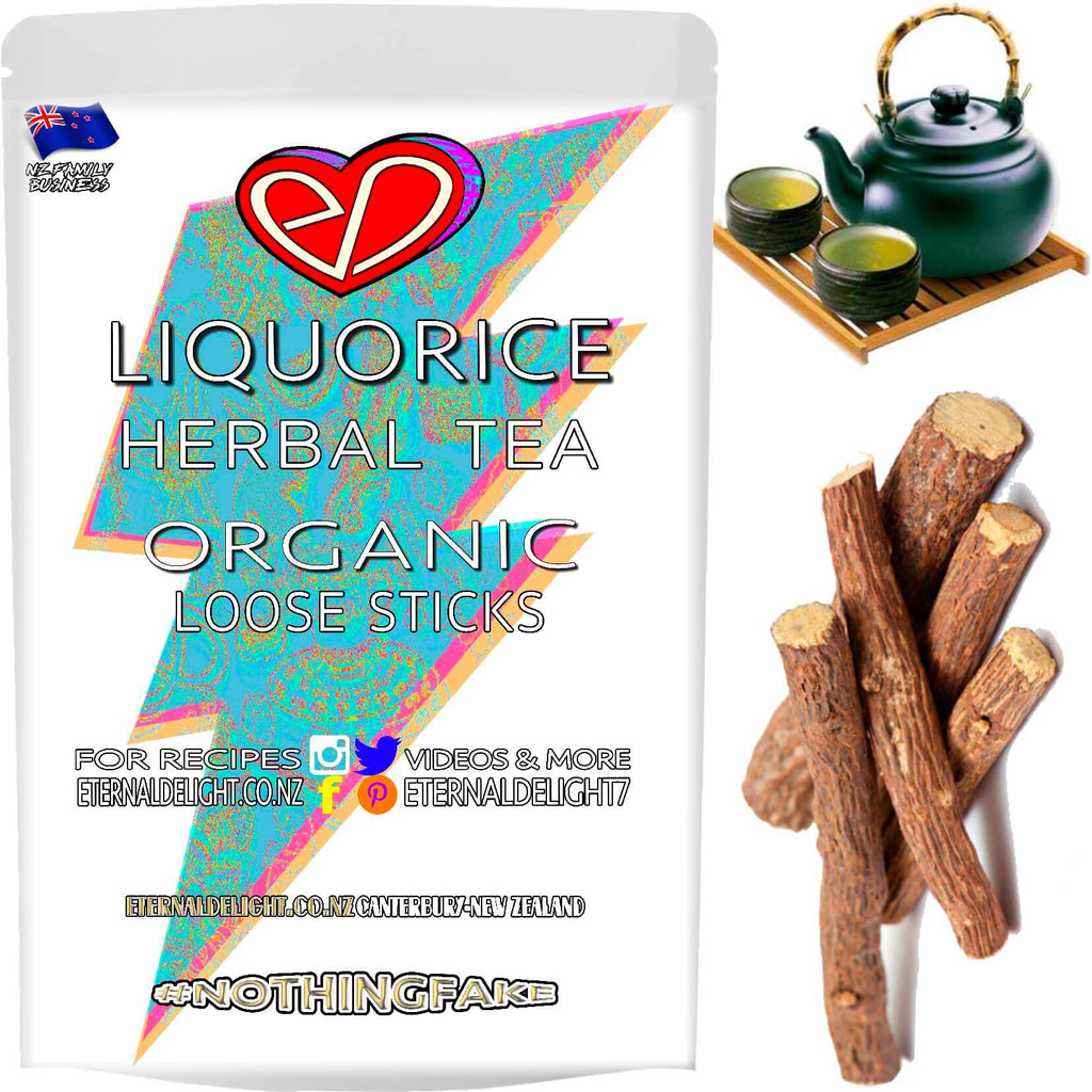 Liquorice Makes for a Delicious Tea and Raw Root Decoction. Chew On Our Flavourful Organic Sticks to Freshen Up Your Breath and Nourish Gum Wellness Today.
