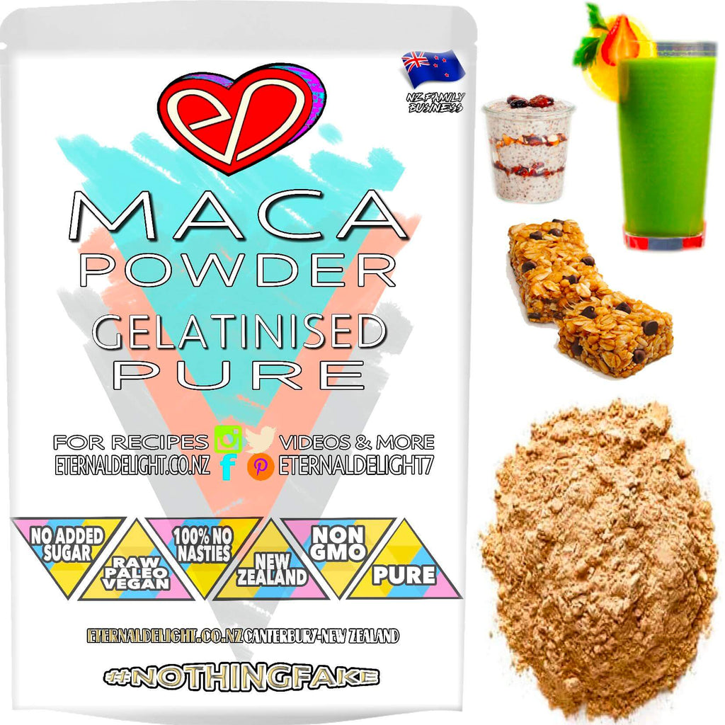 Gelatinised Maca Prime is a Delicious Peruvian Powder and Culinary Delight that Goes Especially Well with Chocolate and Nourishing No Bake Desserts.