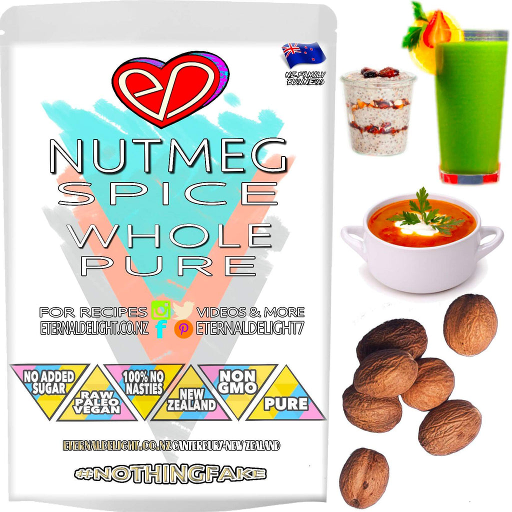 Premium Whole Nutmeg Has a Warm Aroma, Spicy Flavour and is Used in Sweet or Savoury Culinary Creations. Taste Best When Freshly Grated in Cooking or Milk.