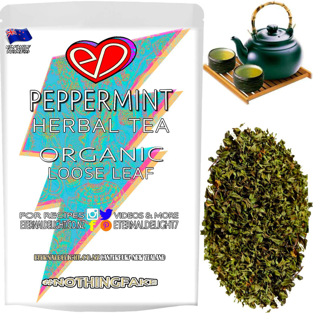 Organic Peppermint Tea Naturally Soothes and Relaxes Wellbeing in a Delicious and Cooling Way. A Real Culinary Delight and Perfect for the Wellness Pantry.