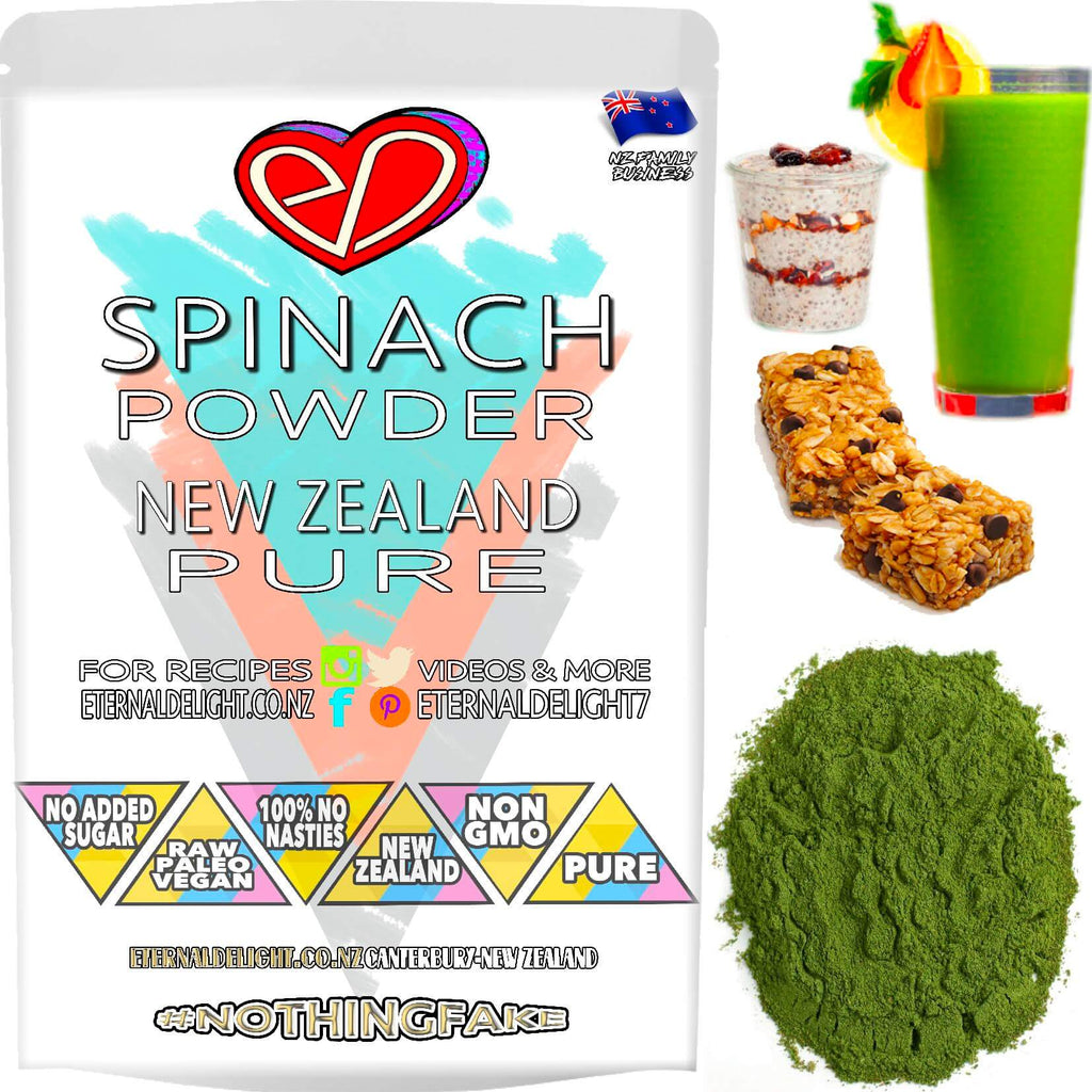 Our Nourishing New Zealand and Super Premium Spinach Powder, Deliciously Delivers a Big Wellness Boost in a Convenient and Clean, Raw Concentrated Shot.