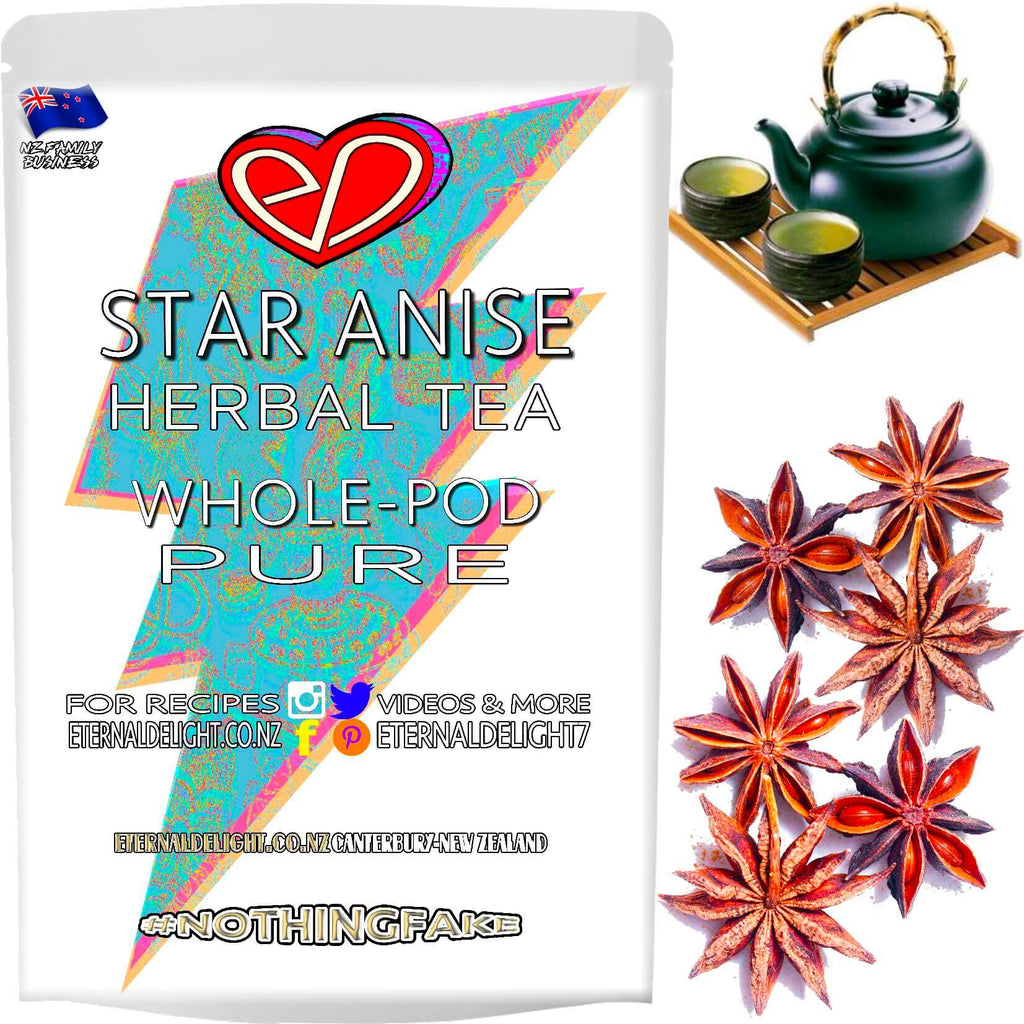 Whole Star Anise Seeds is a Premium Tea that is Traditionally Used in Indian Culinary Dishes and is One of the Flavours Used in Chinese Five Spice Powder.