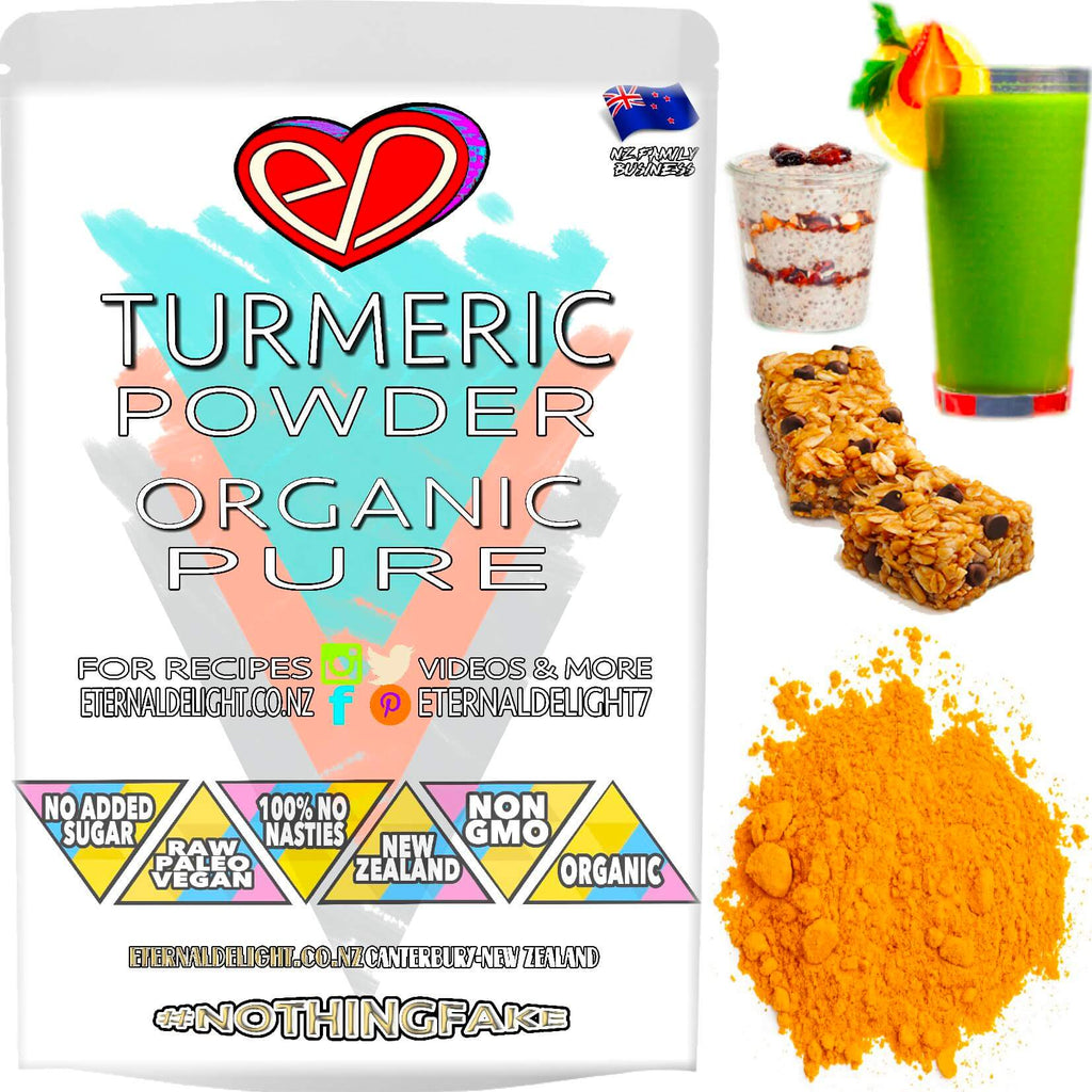Organic Turmeric Root Powder is a Delicious Ayurvedic Culinary Spice and Holistic Herbal Remedy that Naturally Works Well as a Raw Beauty Face Mask Too.