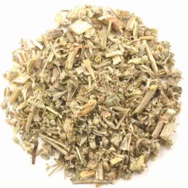 Wormwood Tea - Organic - Eternal Delight. Wormwood is a Natural Mental Stimulant and Herbal Remedy for Indigestion and Improving Appetite. Organic Wormwood Helps to Expel Worms from the Body and Holistically Lifeguards the Liver, while Enhances the Immune System. Wormwood Loose Leaf Tea is Made from an Infusion of Dried Leaves to Help with Digestion, Especially before Heavy Meals that may Likely cause Gas and Bloated Stomach. Organic Wormwood has been Smoked or Brewed into Herbal Tea for its Psychoactive Re