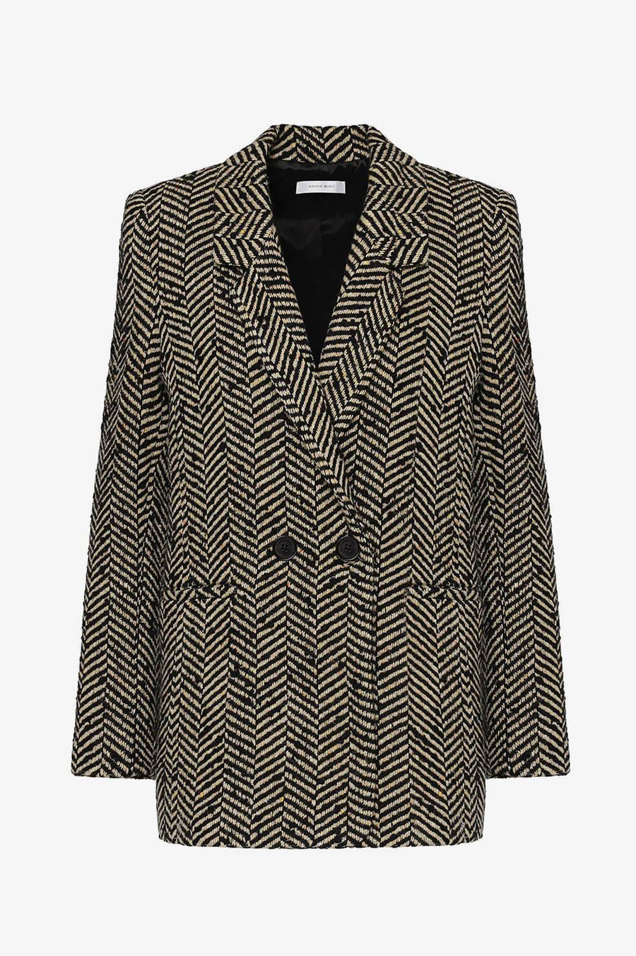 Fishbone Blazer - Cream and Black - Pavilion